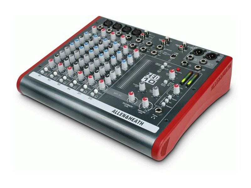 Mikseta, ZED-10, 4mic/4line inputs, USB - Allen&Heath