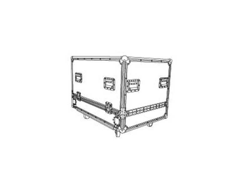 Flightcase za 2 zvučne kutije K-LA28-DSP - Audiocenter