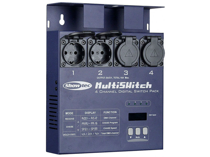 MultiSwitch, 4-kanalni DMX Switchpack izlaz, 4x5A - Showtec