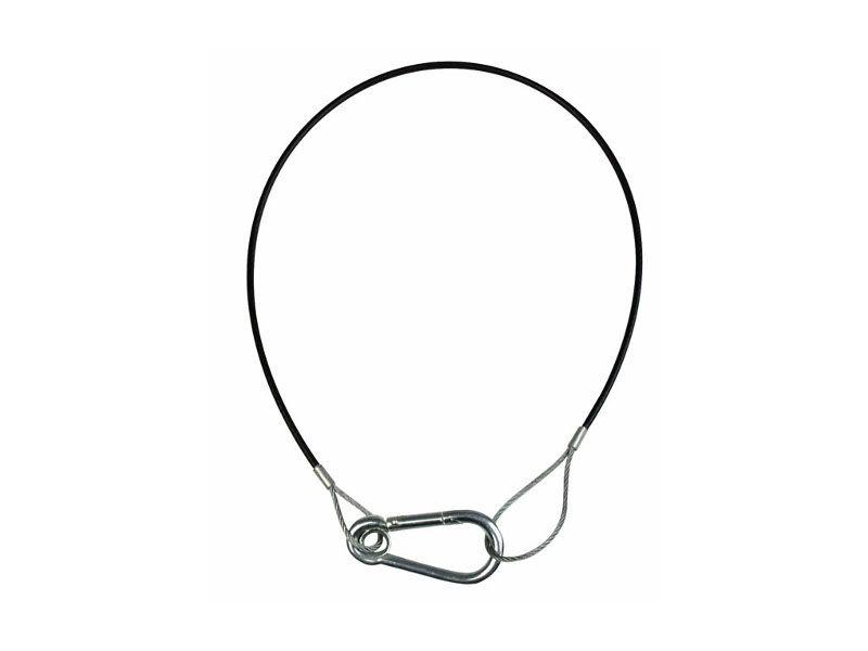 Sigurnosna sajla s crnom prevlakom, 2/3 mm, duljina 50 cm - Showtec