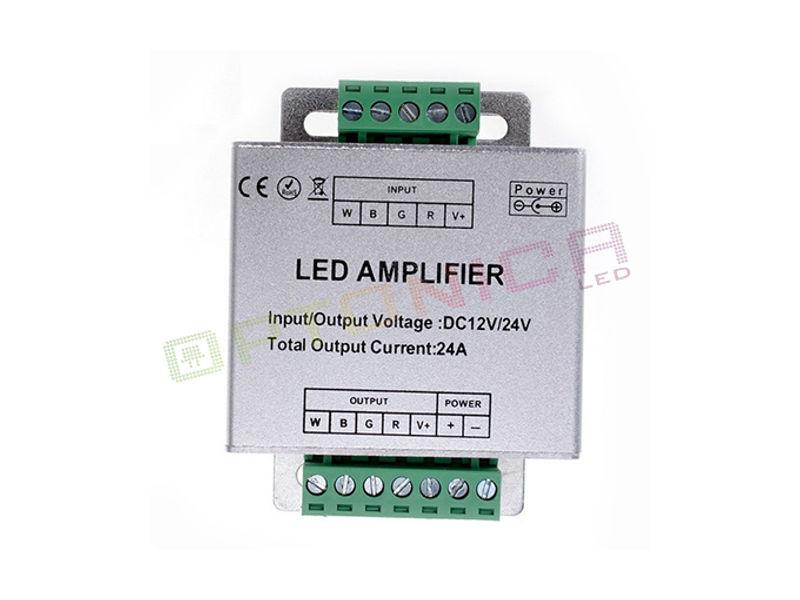 POJAČALO ZA LED TRAKU RGBW, 12V-24V, 144W-288W - Optonica