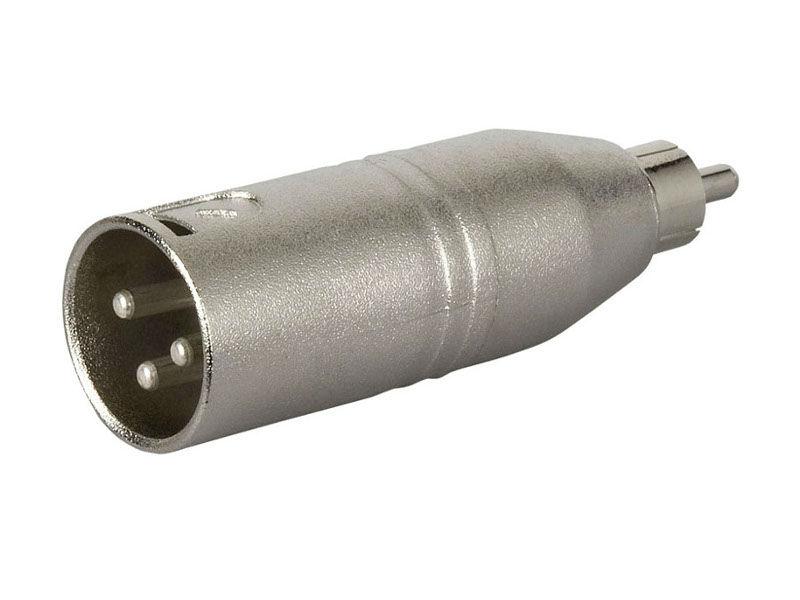 Adapter, XLR M 3 pin na RCA M