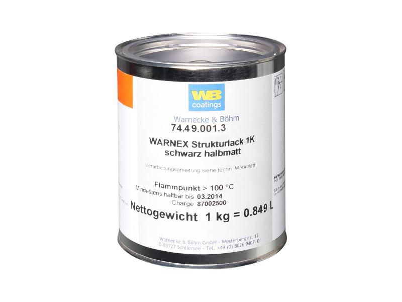 Boja s teksturom Warnex 0131, crna, 1 kg - Adam Hall