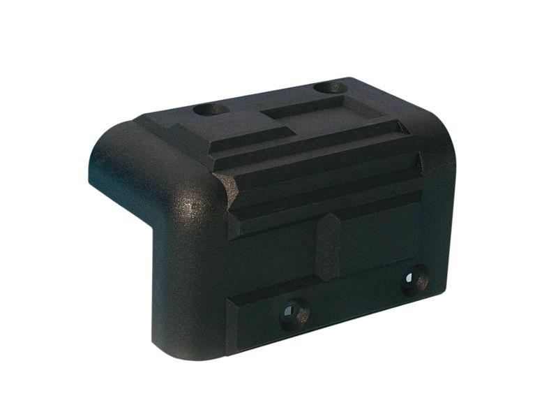 Kutnik, plastični, za kabinete, crni, 56 x 92 mm - Adam Hall