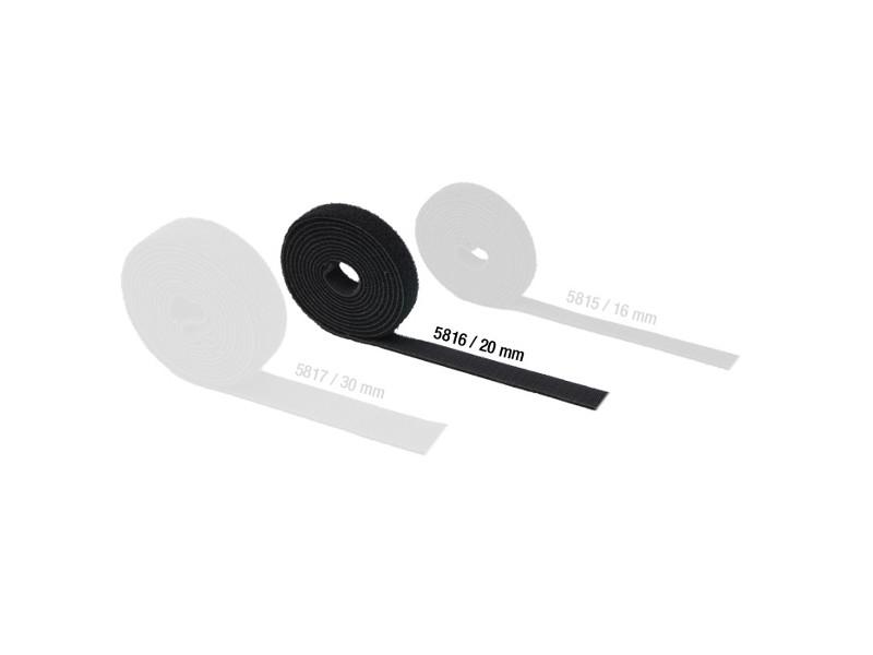 Čičak traka, crna, rola 25 m, širina 20 mm - Adam Hall