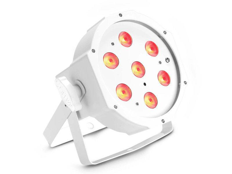 LED reflektor PAR, 7 x 3 W, RGB, IR, bijelo kućište, flat - Cameo