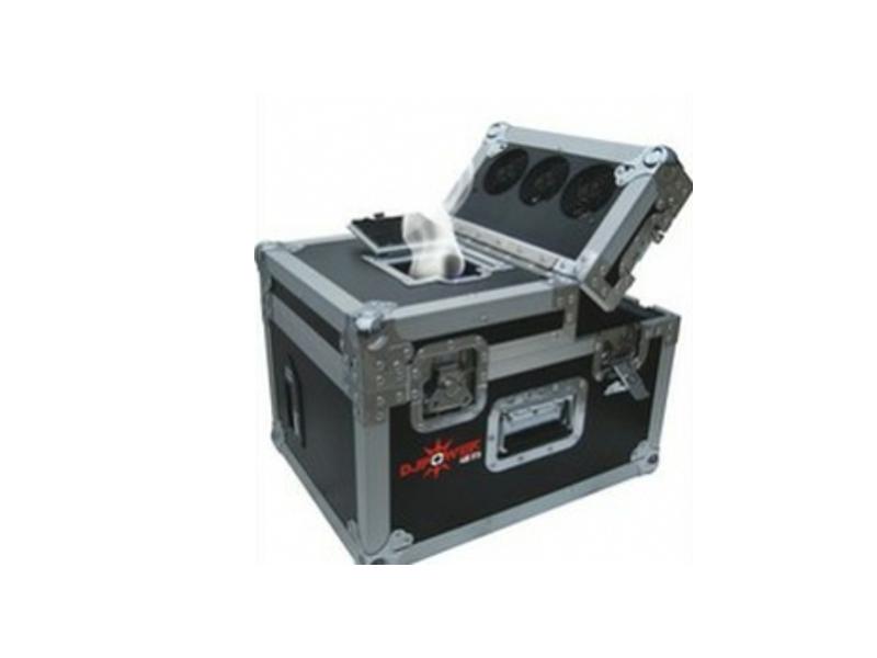 Hazer, 500 W, display, timer, DMX, PRO u flightcase-u, - Dj Power