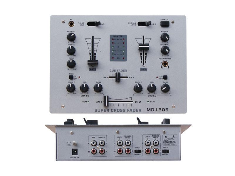 DJ mixer DJM205, 2 kanala + 1 mic - X-Audio