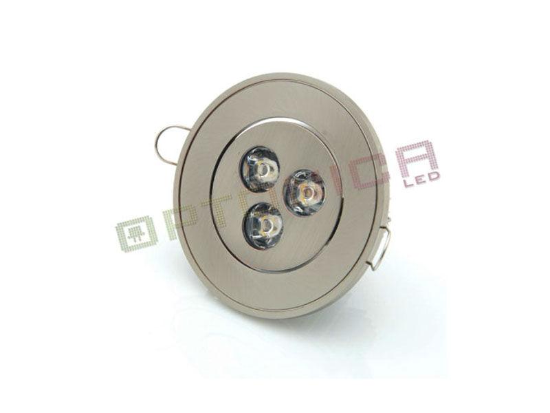LED lampa, ugradbena, 3 W, okrugla, hladna bijela, IP20, DL2131 - Optonica