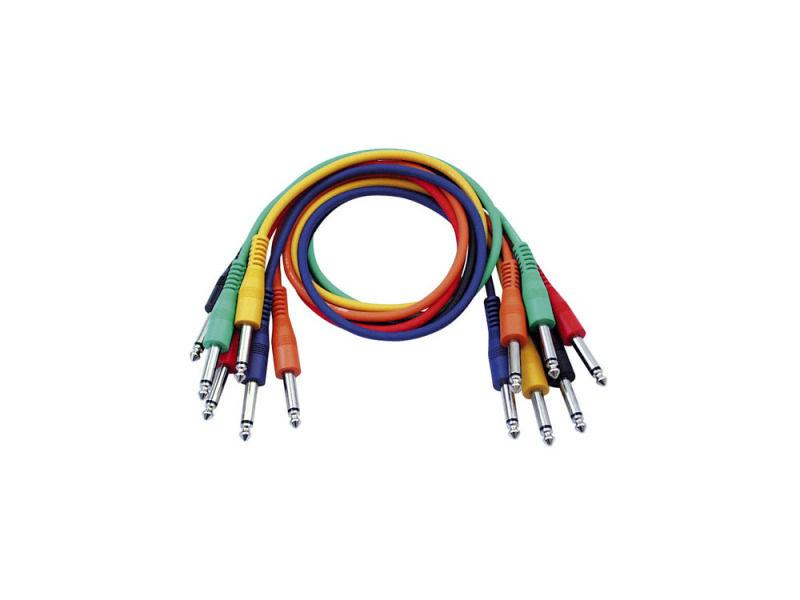 Kabel, gotovi, Mono Patch, ravni konektori, pakiranje 6 boja, 90 cm - DAP