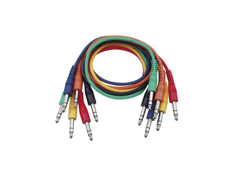 Kabel, gotovi, Stereo Patch, ravni konektori, pakiranje 6 boja, 30 cm - DAP