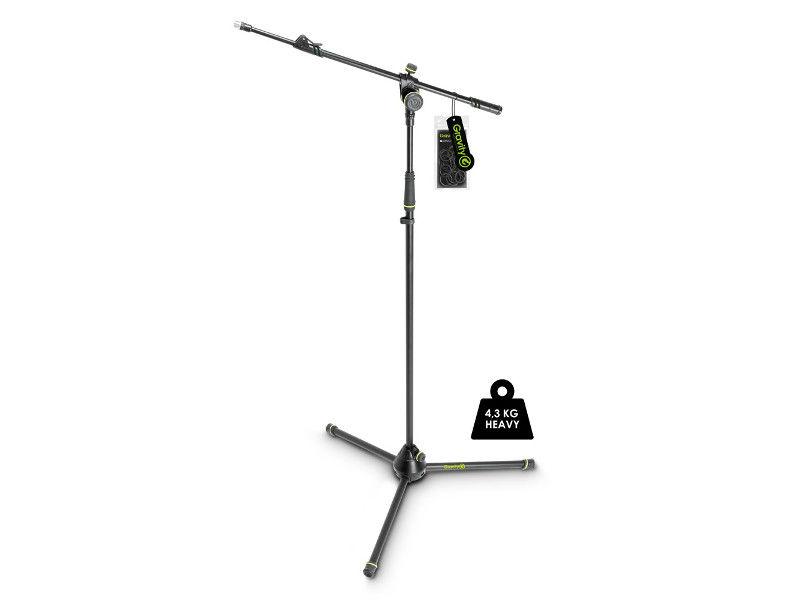 Stalak za mikrofon, 3 noge, 2-point teleskopsko podešavanje, Heavy Duty noge, 4,3 kg - Gravity
