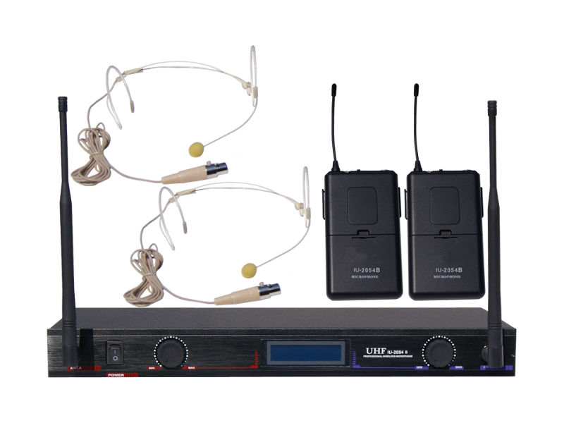 Bežični UHF set, uključuje 2 naglavna mikrofona, fiksne freq. 619,15 MHz/680,45 MHz - X-Audio