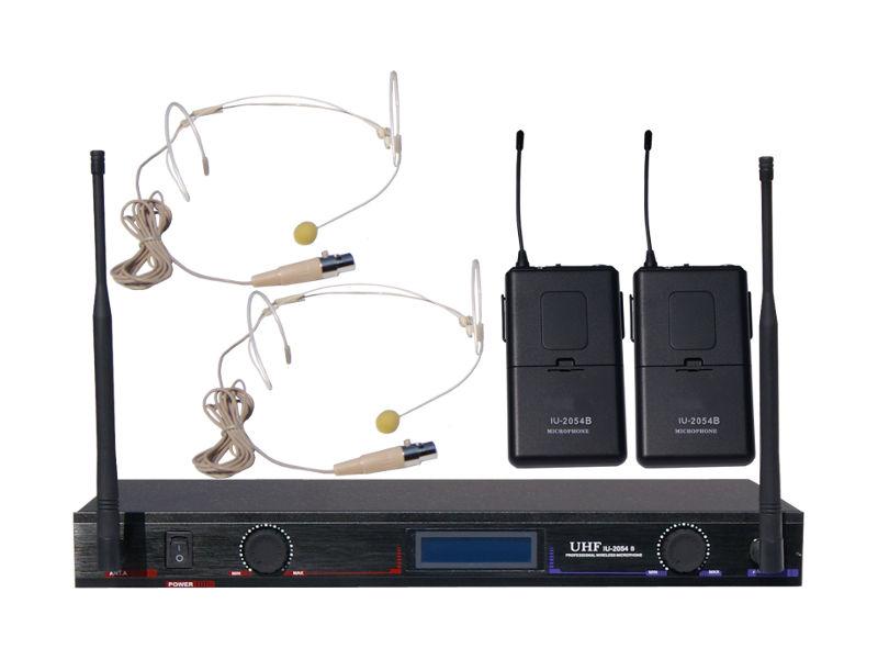 Bežični UHF set, uključuje 2 naglavna mikrofona, fiksne freq. 621,55 MHz/693,65 MHz - X-Audio