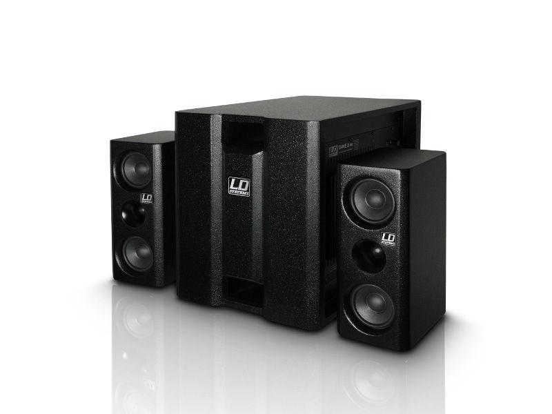 Razglas DAVE 8XSW, kompaktni aktivni PA sistem, crni - LD Systems