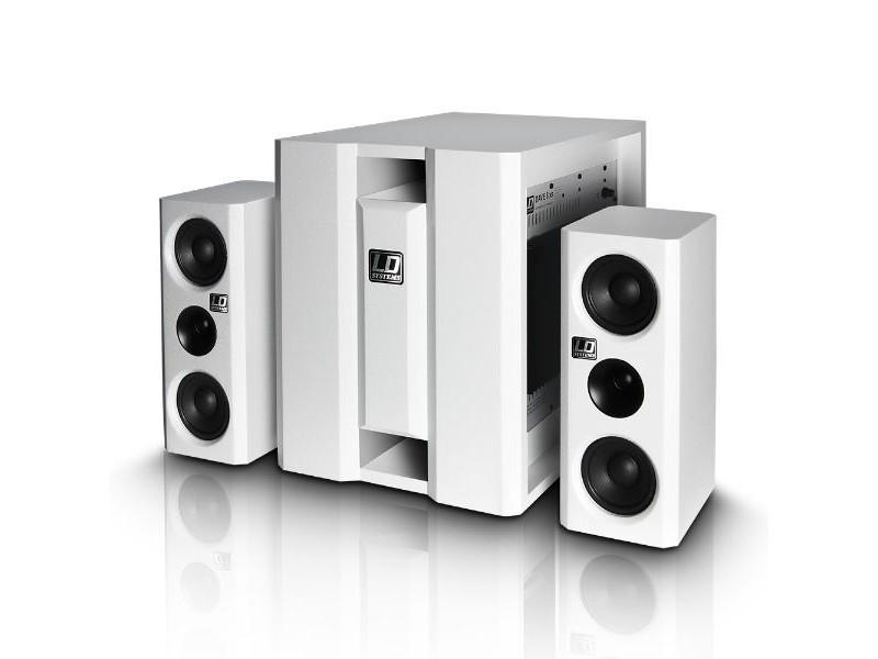 Razglas DAVE 8XSW, kompaktni aktivni PA sistem, bijeli - LD Systems
