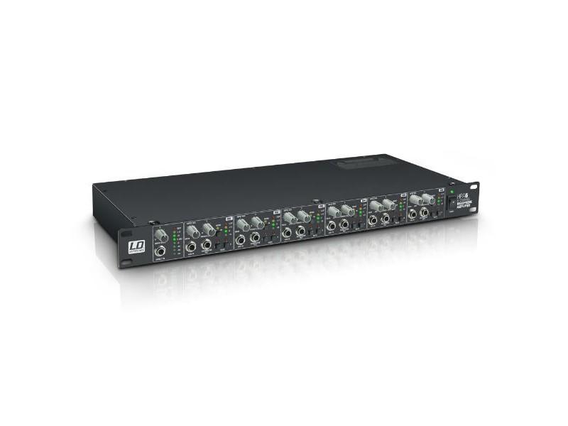 """Pojačalo za slušalice HPA 6, 19"""", 6 kanala - LD Systems"""