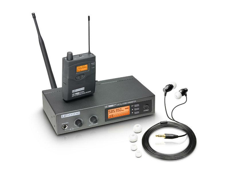 In-Ear bežični monitoring sistem, MEI1000G2B5, 584-607 MHz, sa bazom i beltpackom - LD Systems