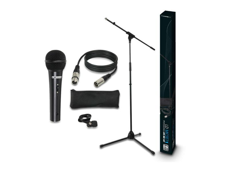 Mikrofonski set - mikrofon, kabel, stalak, hvataljka - LD Systems