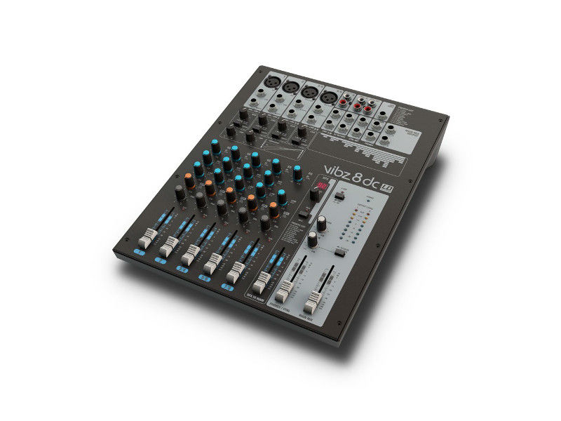 Mikseta, VIBZ8DC, 8 kanala, 4 mic + 3 stereo, sliding compressor - LD Systems