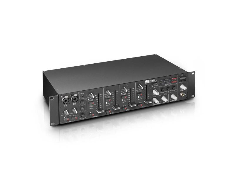 "Mikseta ZONE423, 2 zone, 4 kanala + 2 mikrofonska, 19"", 2U - LD Systems"