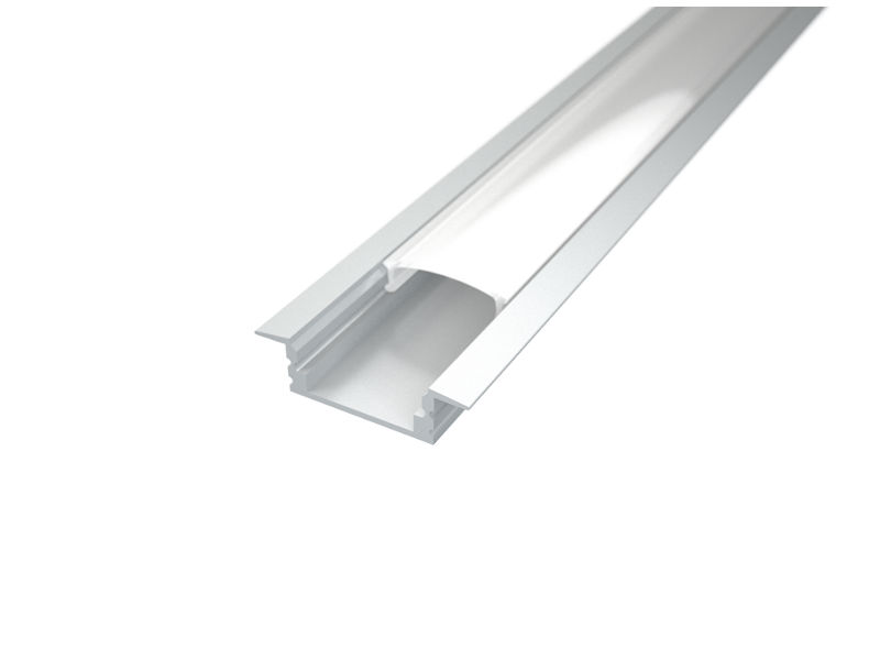LED profil, Recessed 1, mliječni pokrov, 2 m