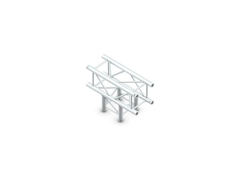 Alu konstrukcija, kvadratna, cijev 50x2 mm, kut, horizontalni, 3 smjera, 71x50 cm - Miloš systems