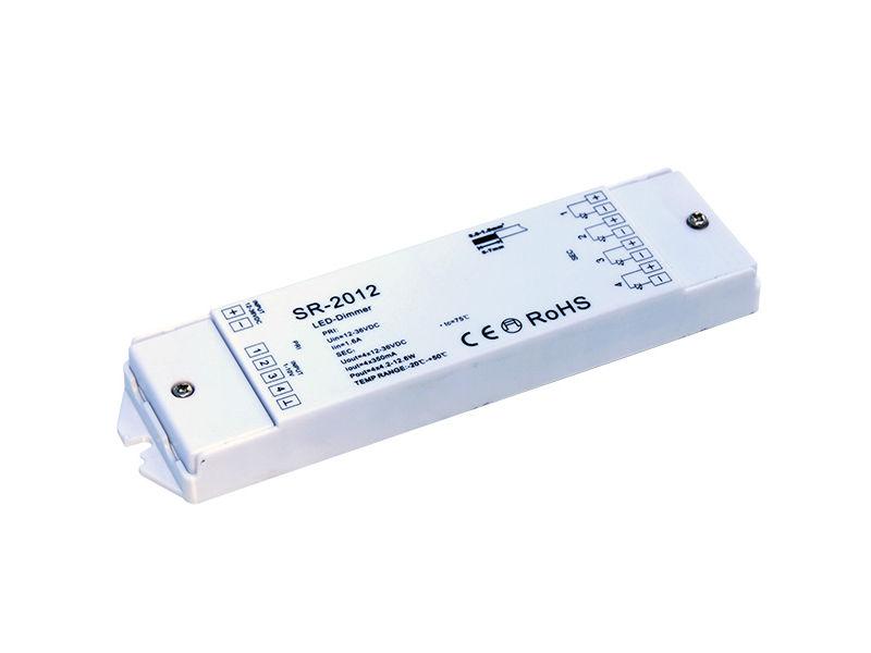 LED Dimer, 12-36 V ulaz, 4x5 A 4×(4.2-12.6)W izlaz, konstantna struja, 4x0-10 V - X-Light