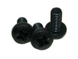 Vijak za rack, križasti, M6 x 12, black – Adam Hall