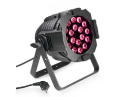 LED reflektor Studio PAR 64 CAN – 18x3W TRI, crni – Cameo