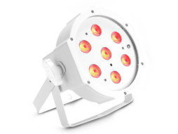 LED reflektor PAR, 7x3W, RGB, IR, bijelo kućište, flat – Cameo