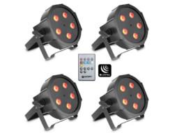 LED reflektor PAR, set 4 reflektora, 5 x 3W, RGB, IR, flat – Cameo