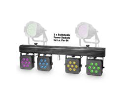 LED reflektor PAR, set 4 reflektora 28x8W, RGBW, IR – Cameo