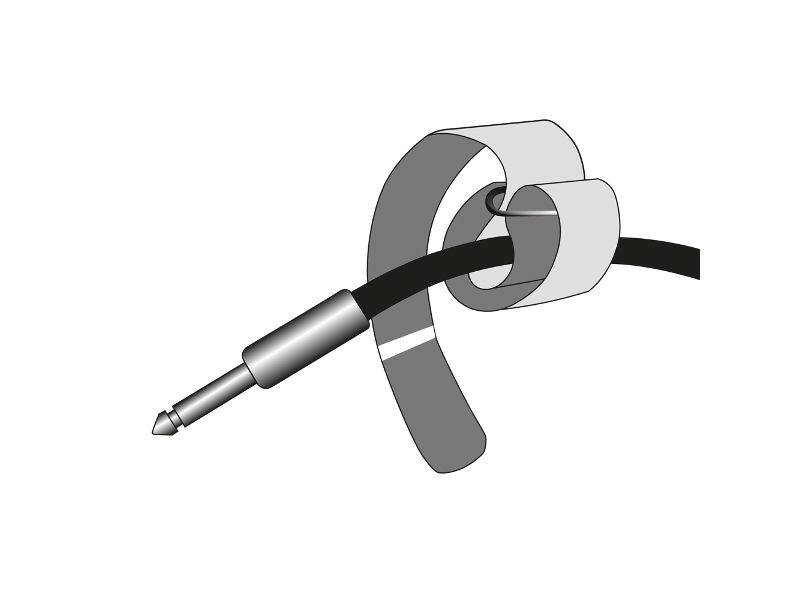 Vezice za kabel na čičak, crne, 300 mm x 20 mm – Adam Hall