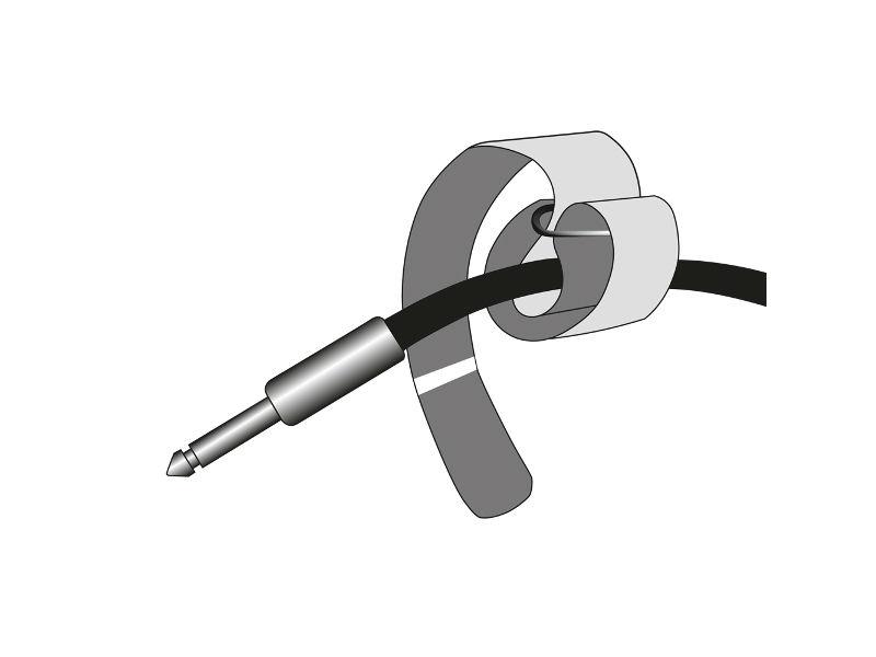 Vezice za kabel na čičak, crne, 400 mm x 38mm – Adam Hall