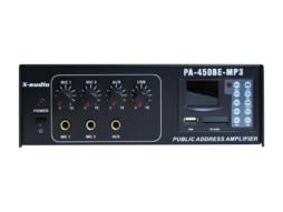 Pojačalo, 100V, 15W RMS, 45W max, 230V ili 12V, FM/MP3/USB/SDcard player – X-Audio