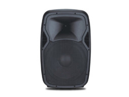Prijenosni zvučnik/mini razglas s punjivom baterijom + 1 bežični mikrofonVHF+naglavni Mikrofon 50W RMS, 15″, MP3, USB, SD, BT, Mixer, EQ – Tesla
