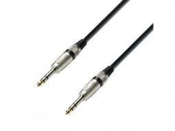 Gotovi kabel 6,3mm M stereo/6,3mm M stereo, 3m – Adam Hall