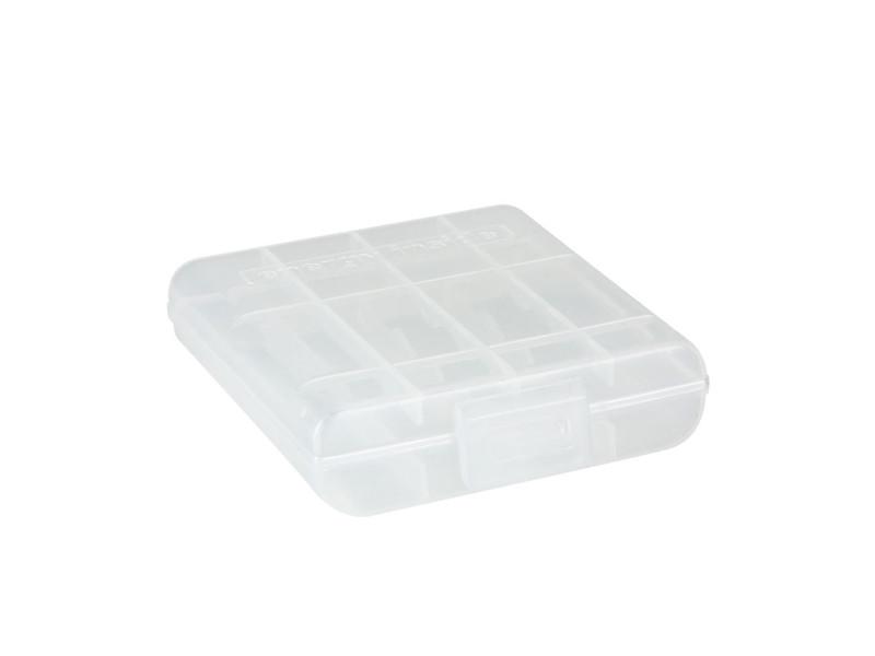 Kutijica za 4 baterije, bijela, poluprozirna – Adam Hall