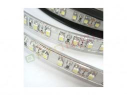 LED traka 3528 60 ledica/m 12V 4,8W/m prirodno bijela IP54 – slikikonski pokrov – bijela baza – Optonica