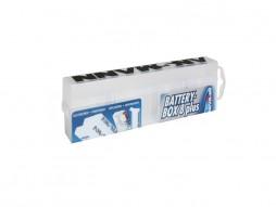 Kutijica za baterije, 8 kom, bijela prozirna – Adam Hall