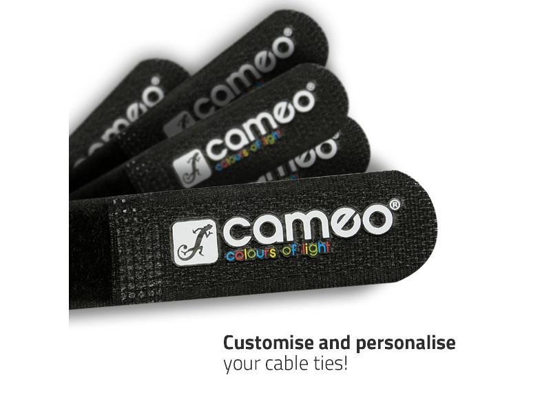 Vezice za kabel na čičak, crne sa plavimVrhom, 300 mmx20 mm – Adam Hall
