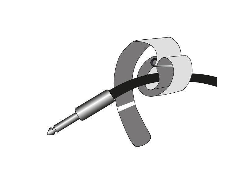 Vezice za kabel na čičak crne sa plavimVrhom 160mmx16mm – Adam Hall