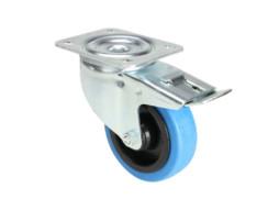 Kotač 100 mm, rotirajući svjetlo plavi s kočnicom – Adam Hall
