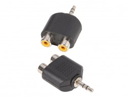 Adapter 2x RCA mono Ž / 3,5mm stereo M – Adam Hall