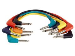 Kabel, gotovi, 6,3 mm mono M kutni / 6,3 mm mono M kutni, set 6 komada, 1,5 m – Tesla