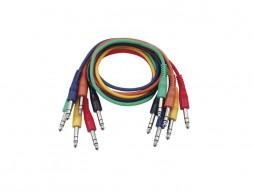 Gotovi kabel 6,3mm stereo M / 6,3mm stereo M , set 6 komada, 0,75m – Tesla
