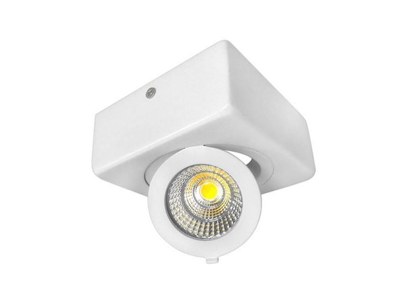 12W LED COB SURFACE downlighter  četvrtasti, prilagodljiv, prirodno bijela – Optonica