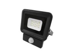 LED SMD radni reflektor crni 10W AC170-265V 100° IP65 vodootporno 6000K hladna bijela – sa senzorom – Optonica