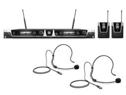 Bežični mikrofonski set s dva bodypacka i dva crna naglavna mikrofona 584-608MHz – LD Systems U505 BPH 2